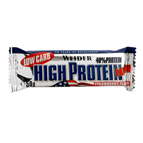 Батончик Weider 40% High Protein Low Carb Strawberry Bar, 50 g